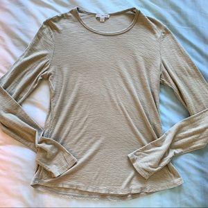 James Perse Tan Long Sleeve Tee Shirt